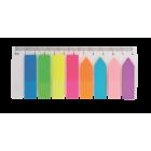 Закладки пластиковые с клейким слоем BuroMax (8 цветов x 25 шт.)