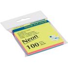 Блок бумаги для записей с клейким слоем Декор Неон 76х76мм