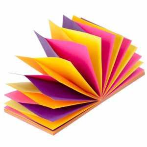 Блок бумаги для записей с клейким слоем Гирлянда Неон 76х76мм