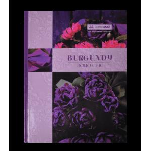 Книга учета BOHO CHIC А4 96 листов, клетка, фиолетовая