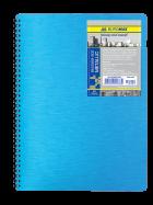 Тетрадь Metallic А6 80 листов, синий