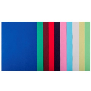 Набор цветной бумаги А4, 80 г/м2, DARK+PASTEL, 10 цветов, 50л.