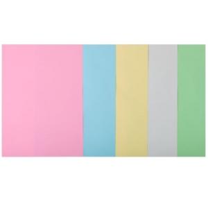 Набор цветной бумаги А4, 80 г/м2, PASTEL, 5 цветов, 20л.