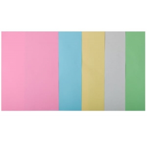 Набор цветной бумаги А4, 80 г/м2, PASTEL, 5 кольорів, 50арк.