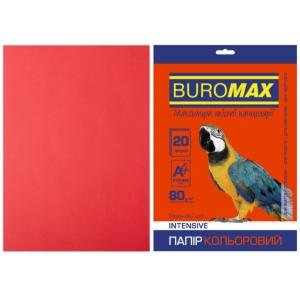 Бумага цветная А4, 80 г/м2, INTENSIV, красный, 20л.