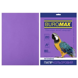 Бумага цветная А4, 80 г/м2, INTENSIV, фиолетовый, 20л.