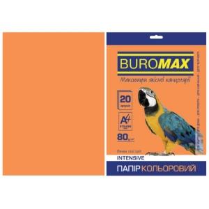 Папір кольоровий А4, 80 г/м2, INTENSIV, помаранчевий, 20арк.