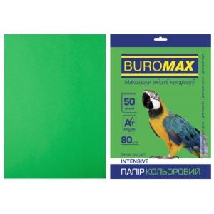 Папір кольоровий А4, 80 г/м2, INTENSIV, зелений, 50арк.