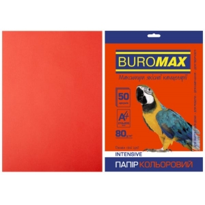 Бумага цветная А4, 80 г/м2, INTENSIV, красный, 50л.