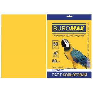 Бумага цветная А4, 80 г/м2, INTENSIV, желтый, 50л.