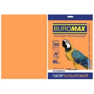 Бумага цветная А4, 80 г/м2, INTENSIV, оранжевый, 50л.