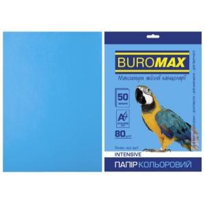 Папір кольоровий А4, 80 г/м2, INTENSIV, світло-синій, 50арк.