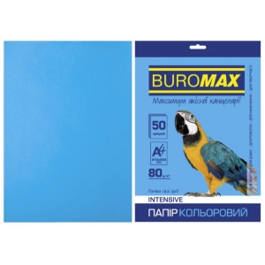 Бумага цветная А4, 80 г/м2, INTENSIV, светло-синий, 50л.