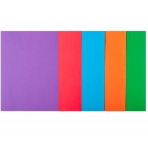 Набор цветной бумаги А4, 80 г/м2, INTENSIV, 5 кольорів, 50арк.