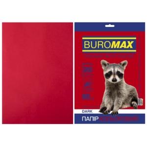 Бумага цветная А4, 80 г/м2, DARK бордовый, 20л.
