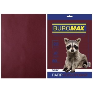 Бумага цветная А4, 80 г/м2, DARK коричневый, 20л.
