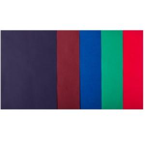 Набор цветной бумаги А4, 80 г/м2, DARK 5 кольорів, 50арк.