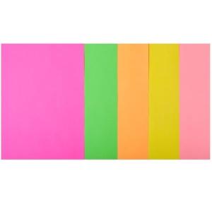Набор цветной бумаги А4, 80 г/м2, NEON, 5 цветов, 20л.