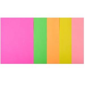 Набор цветной бумаги А4, 80 г/м2, NEON, 5 цветов, 50л.