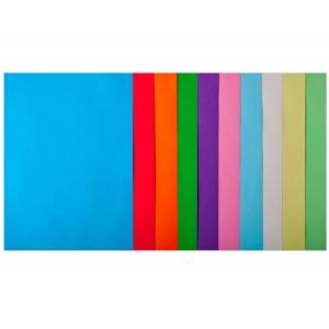 Набор цветной бумаги А4, 80 г/м2, PASTEL+INTENSIV, 10 цветов, 20л.