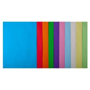 Набор цветной бумаги А4, 80 г/м2, PASTEL+INTENSIV, 10 цветов, 50л.