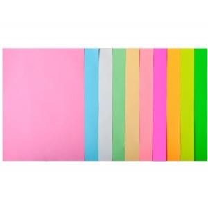 Набор цветной бумаги А4, 80 г/м2, PASTEL+NEON, 10 цветов, 20л.