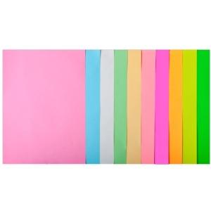 Набор цветной бумаги А4, 80 г/м2, PASTEL+NEON, 10 цветов, 50л.