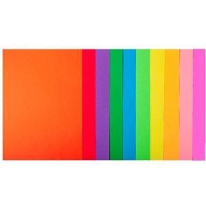 Набір кольорового паперу А4, 80 г/м2, NEON + INTENSIV, 10 кольорів, 50арк.