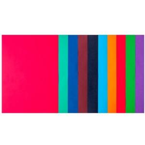 Набір кольорового паперу А4, 80 г/м2, DARK + INTENSIV, 10 кольорів, 50арк.