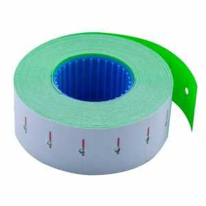 Ценник 22*12мм (1000шт, 12м), прямоугольный, внутренняя намотка, зеленый