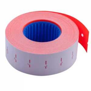 Ценник 22 * 12мм (1000шт, 12м), прямоугольный, внутренняя намотка, красный