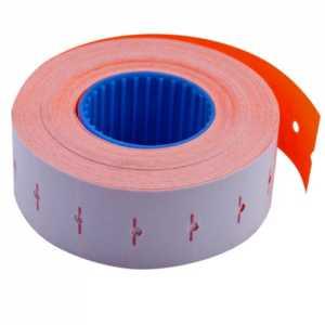 Ценник 22 * 12мм (1000шт, 12м), прямоугольный, внутренняя намотка, оранжевый
