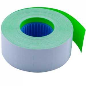 Ценник 26 * 16мм (1000шт, 16м), прямоугольный, внутренняя намотка, зеленый