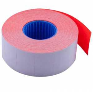 Ценник 26 * 16мм (1000шт, 16м), прямоугольный, внутренняя намотка, красный