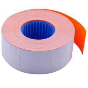 Ценник 26 * 16мм (1000шт, 16м), прямоугольный, внутренняя намотка, оранжевый