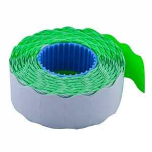 Ценник 22 * 12мм (1000шт, 12м), фигурный, внутренняя намотка, зеленый