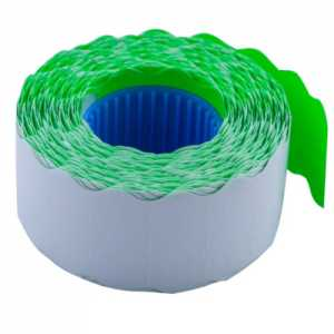 Ценник 26 * 12мм (1000шт, 12м), фигурный, внутренняя намотка, зеленый