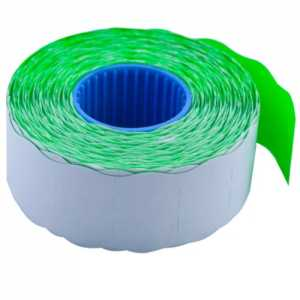 Ценник 26 * 16мм (1000шт, 16м), фигурный, внутренняя намотка, зеленый