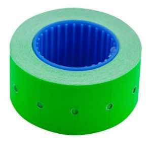 Ценник 22 * 12мм (500шт, 6м), прямоугольный, внешняя намотка, зеленый