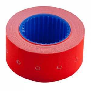 Ценник 22 * 12мм (500шт, 6м), прямоугольный, внешняя намотка, красный