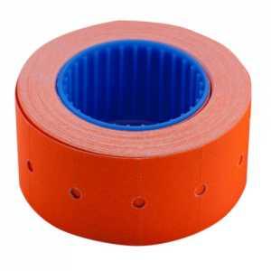 Ценник 22 * 12мм (500шт, 6м), прямоугольный, внешняя намотка, оранжевый
