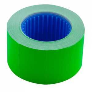Ценник 26 * 16мм (375шт, 6м), прямоугольный, внешняя намотка, зеленый