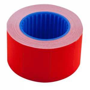 Ценник 26 * 16мм (375шт, 6м), прямоугольный, внешняя намотка, красный