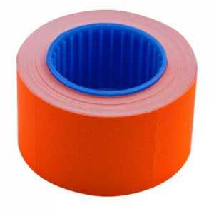 Ценник 26 * 16мм (375шт, 6м), прямоугольный, внешняя намотка, оранжевый