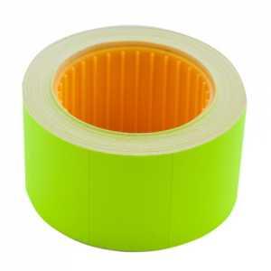 Ценник 30 * 20мм (300шт, 6м), прямоугольный, внешняя намотка, зеленый