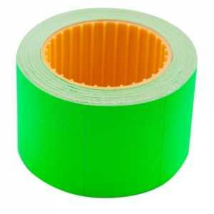 Ценник 35 * 25мм (240шт, 6м), прямоугольный, внешняя намотка, зеленый