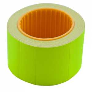 Ценник 35 * 25мм (240шт, 6м), прямоугольный, внешняя намотка, желтый