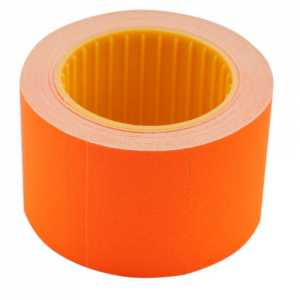Ценник 35 * 25мм (240шт, 6м), прямоугольный, внешняя намотка, оранжевый