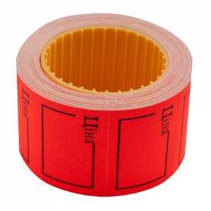 """Ценник 35 * 25мм, """"ЦЕНА"""", (240шт, 6м), прямоугольный, внешняя намотка, красный"""