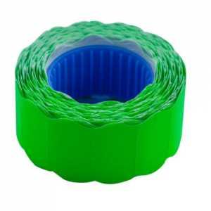 Ценник 22 * 12мм (500шт, 6м), фигурный, внешняя намотка, зеленый
